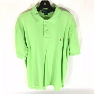 Men's Ralph Lauren large polo lime green